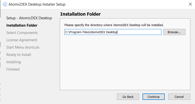 Install AtomicDEX 2