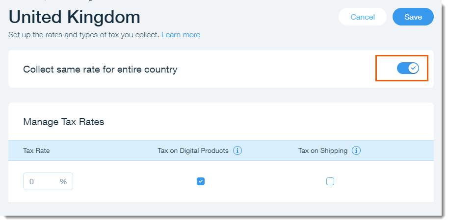 Setting Up Tax in Wix Stores | Help Center | Wix.com