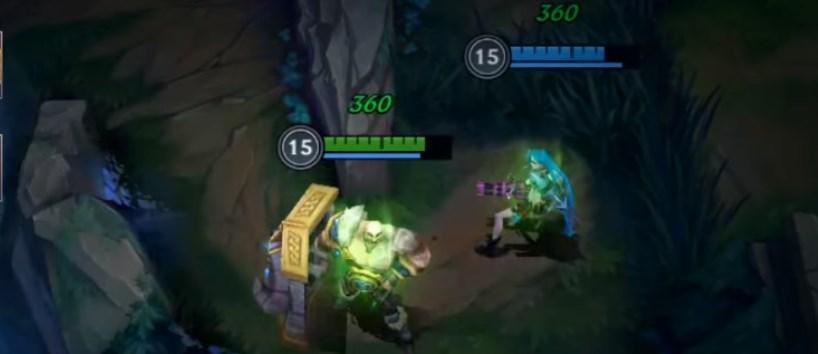 Jinx and Braum using Heal