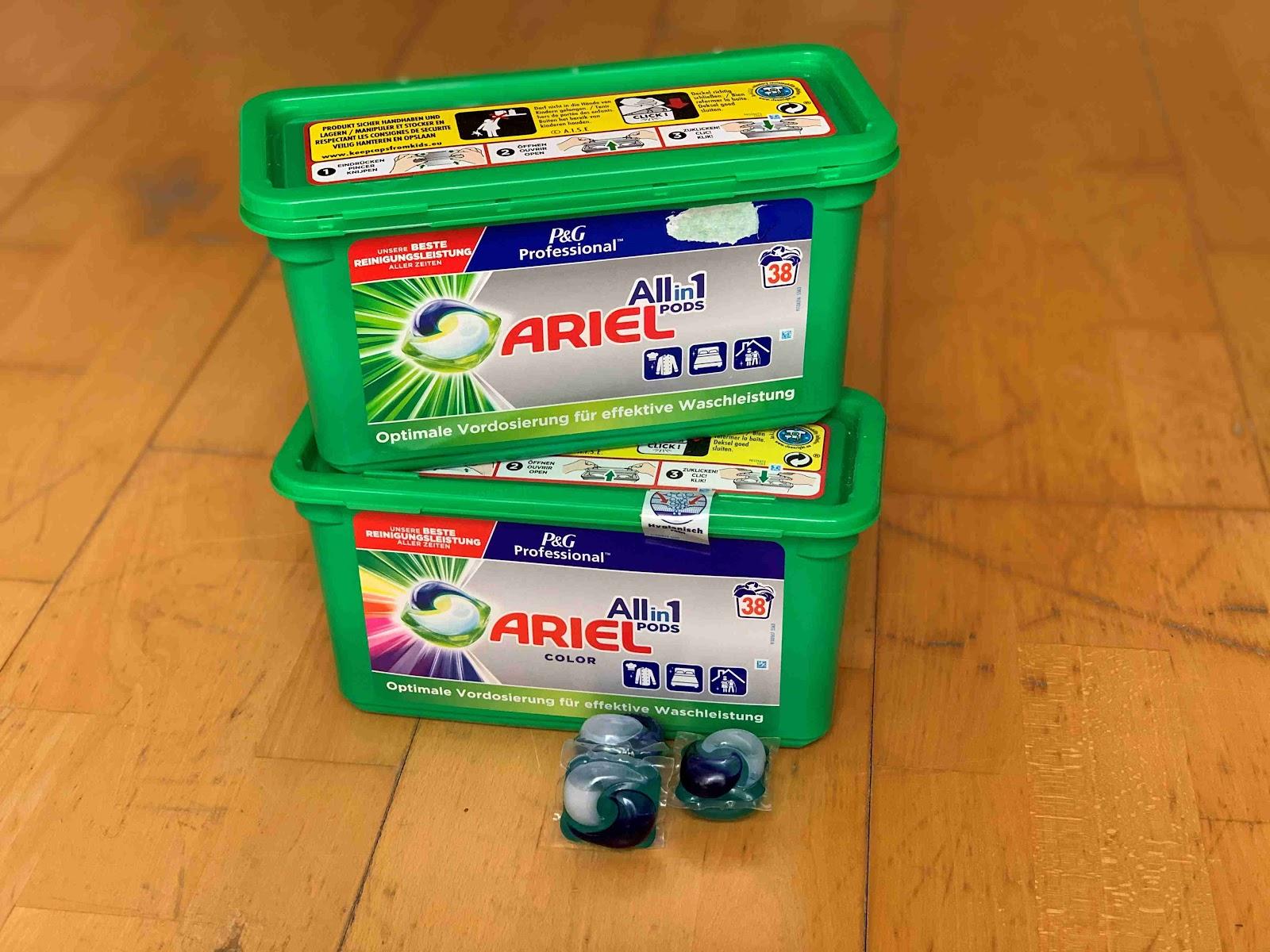 Recenze Drogerie-Domu: Prací kapsle Ariel Professional All in 1