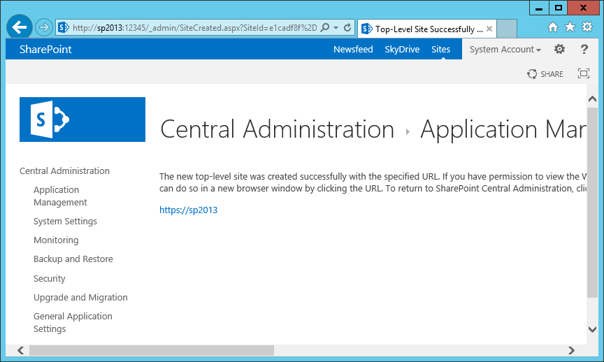 difference between web application and site collection in sharepoint 2013