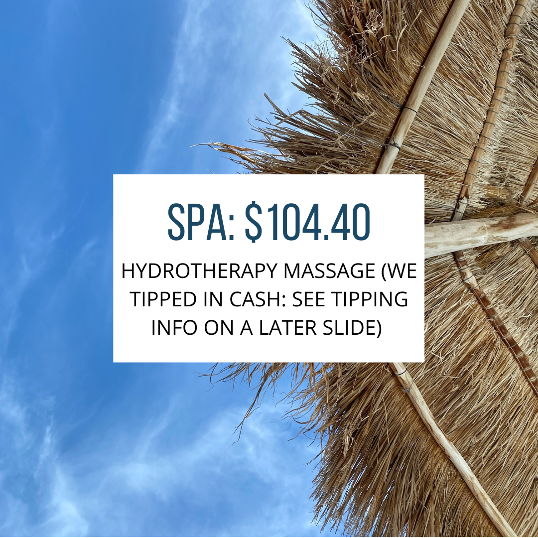spa fees with sky background