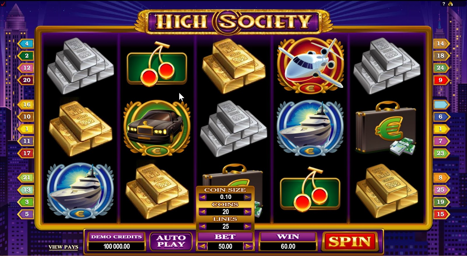 High Society Slots Game Review