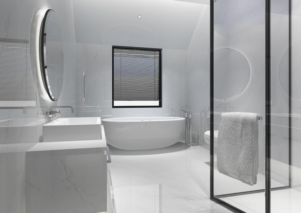 łazienka glamour biała