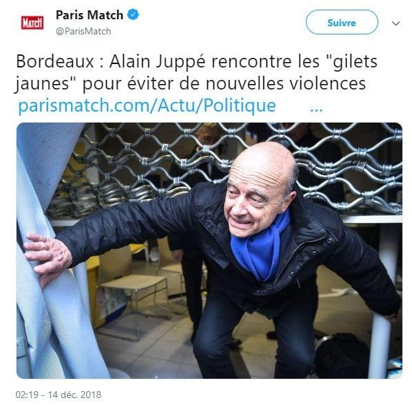 Alain Juppé - Paris Match - Gilest jaunes