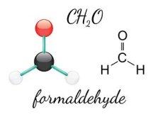 Formaldehyde chemical molecule