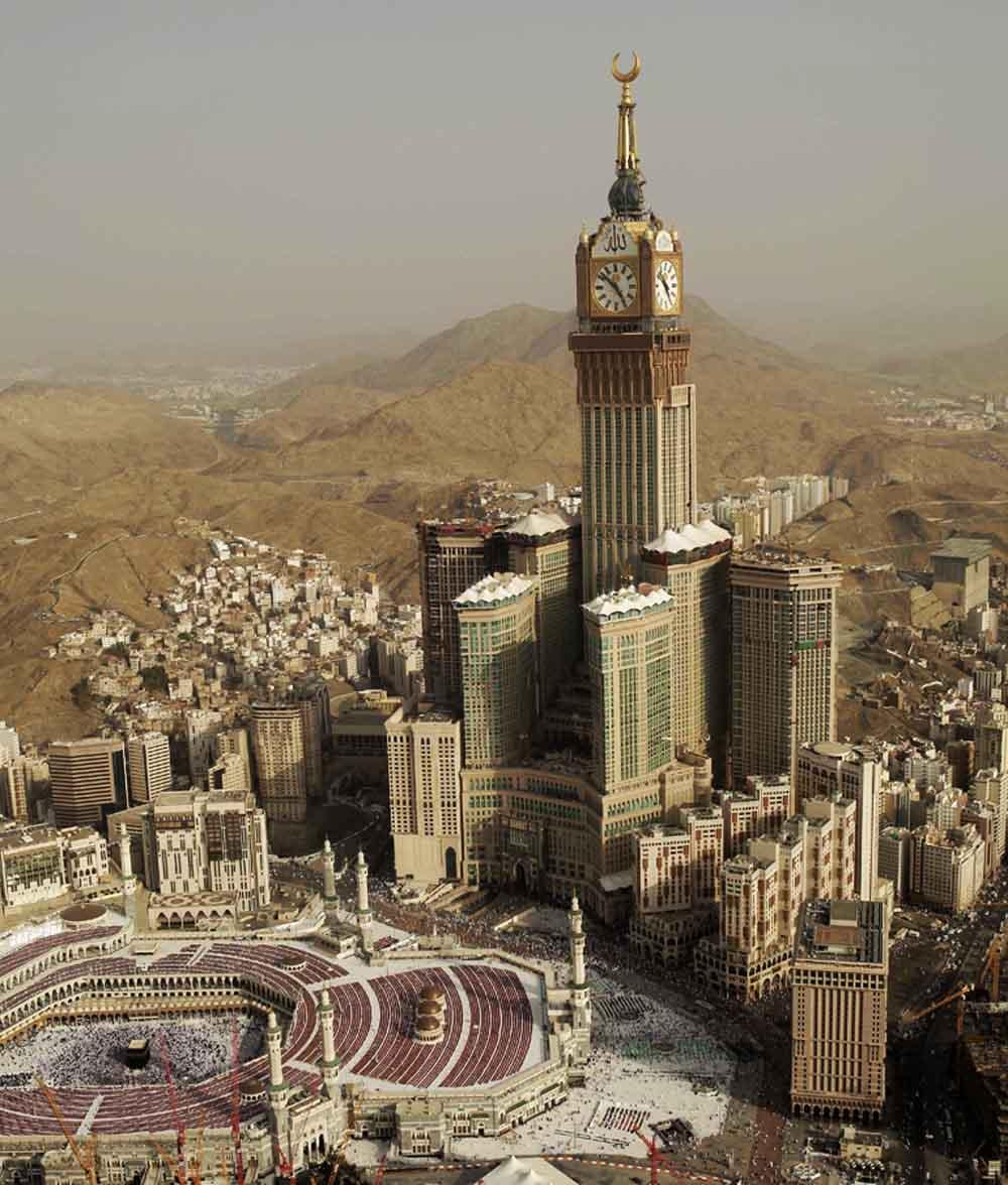 As maiores construções do mundo: torre do relógio abraj al-bait