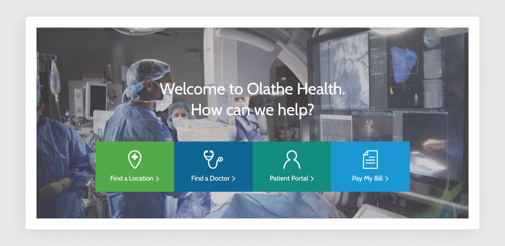 Flat Design of Olathe Health