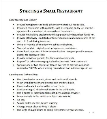 canteen business plan pdf