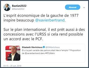 Bastiat2022 esprit économique de la gauche de 1977 inspire Xavier Bertrand