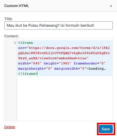 cara membuat google form paste and save