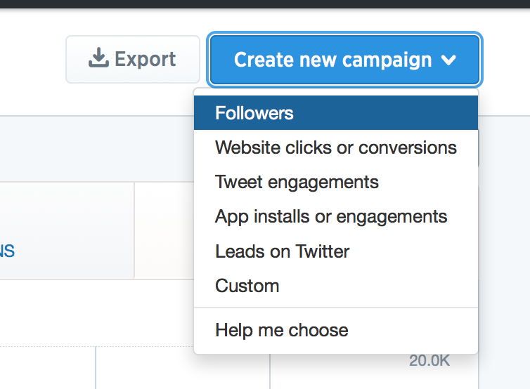 Different types of Twitter ad campaigns