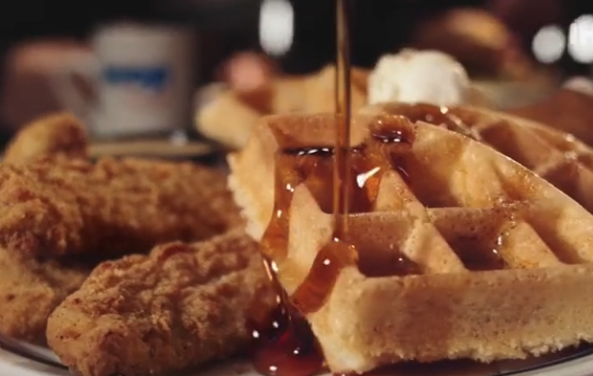 Chicken and waffles from IHOP