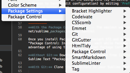 Paquets Sublime Text front-end dev