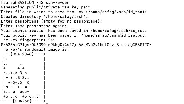 Create a SSH key