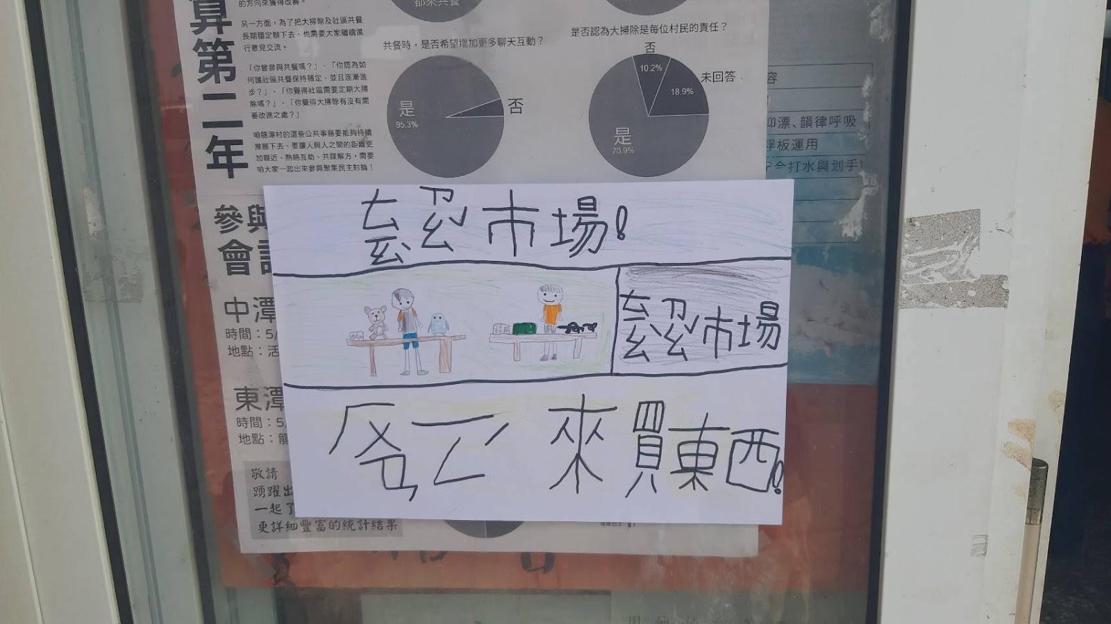 龍潭村首次跳蚤市場側記