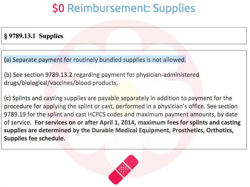 Fee-Affecting Regulations: 9789.13.1 Supplies