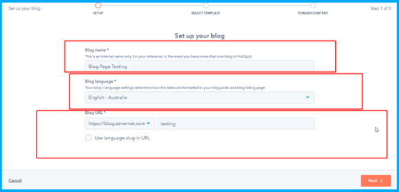 Set up your blog