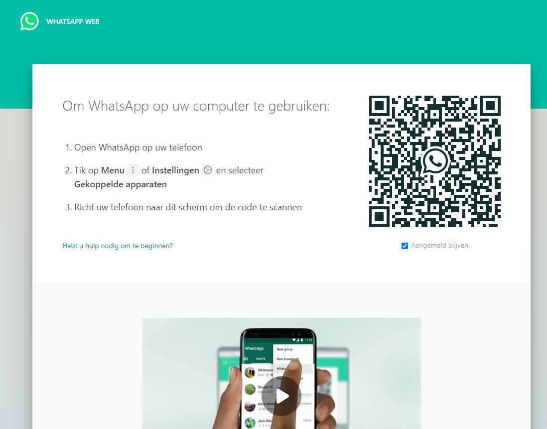 WhatsApp op laptop 3