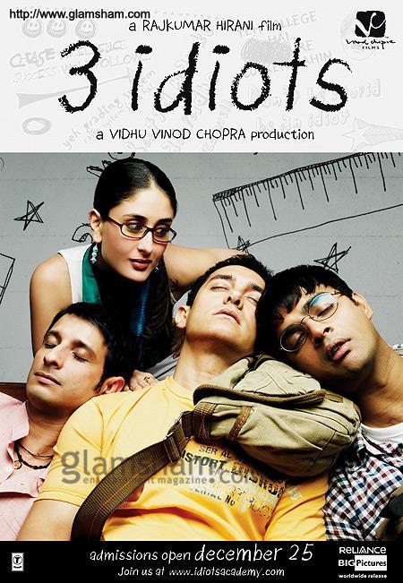 نتيجة بحث الصور عن 3 idiots poster