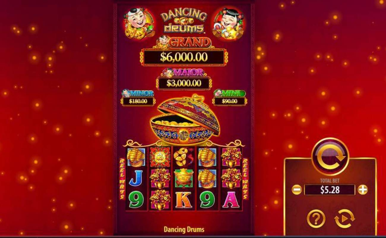 Dancing Drums online slot casino game