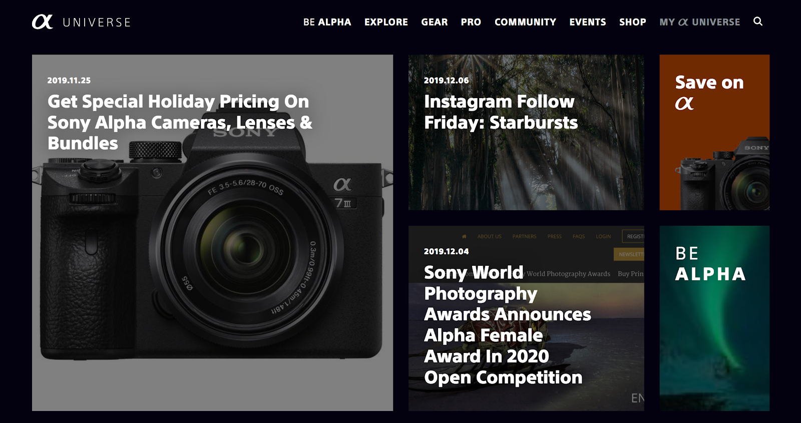 Sony Alpha Universe | Influencer Opportunity