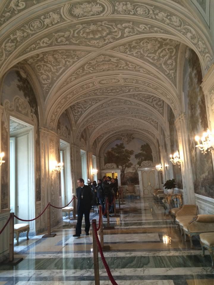 Những căn phòng tại lâu đài Castel Gandolfo