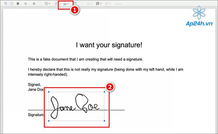 Thêm chữ ký vào tài liệu PDF