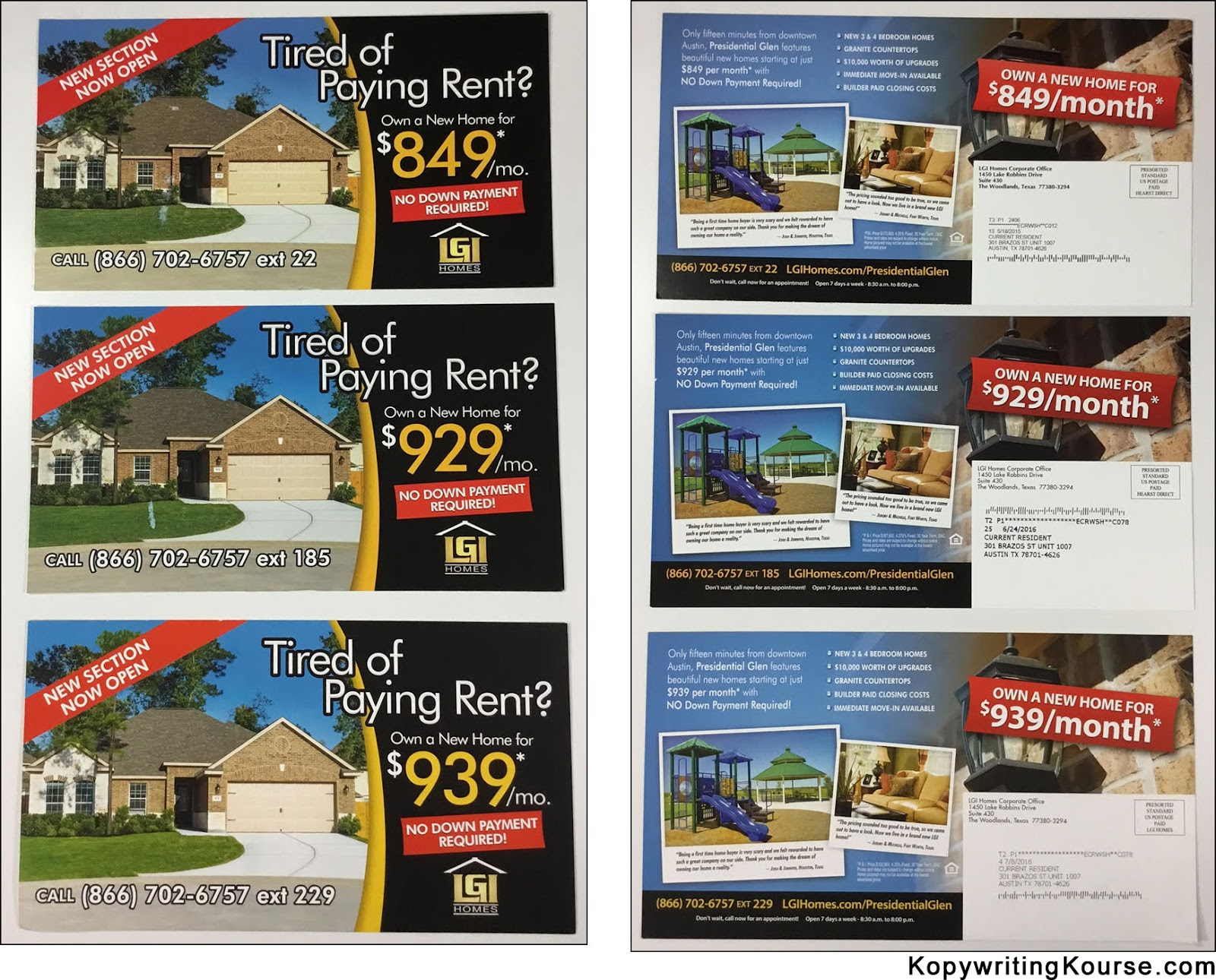 Great offers in real estate direct mail