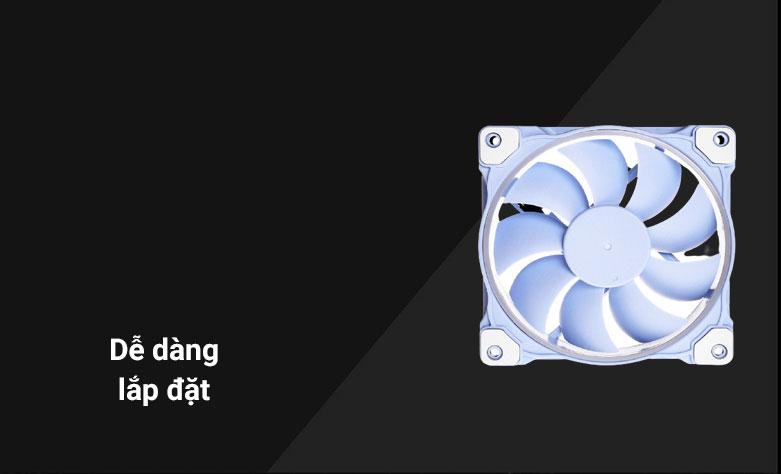 Quạt case ID-COOLING ZF-12025 (Xanh)| Dễ dàng lắp đặt