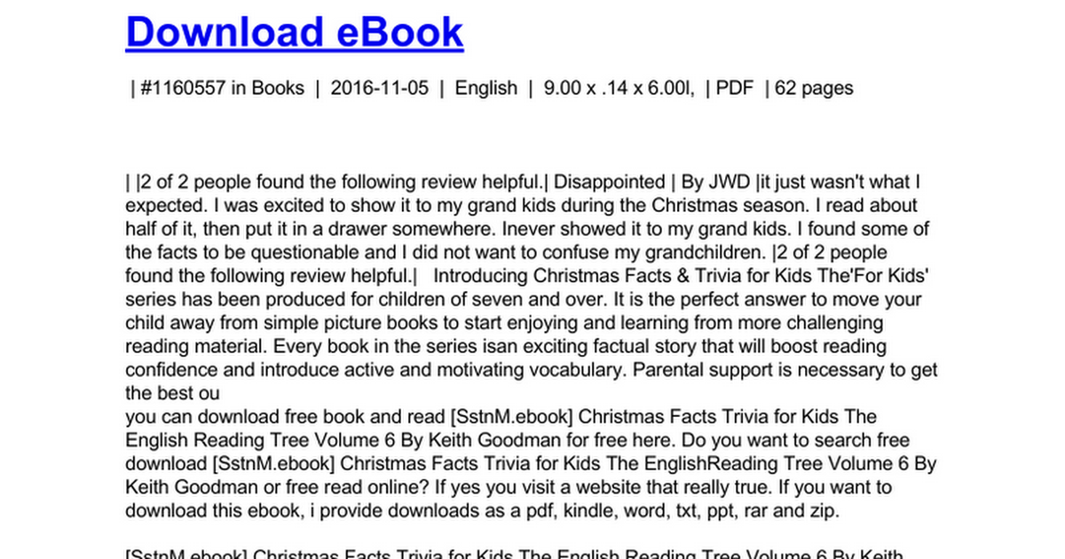 christmas-facts-trivia-for-kids-the-english-reading-tree-volume-6 ...