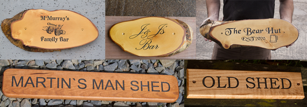 High-quality, made to order wooden signs that are great for home pubs.