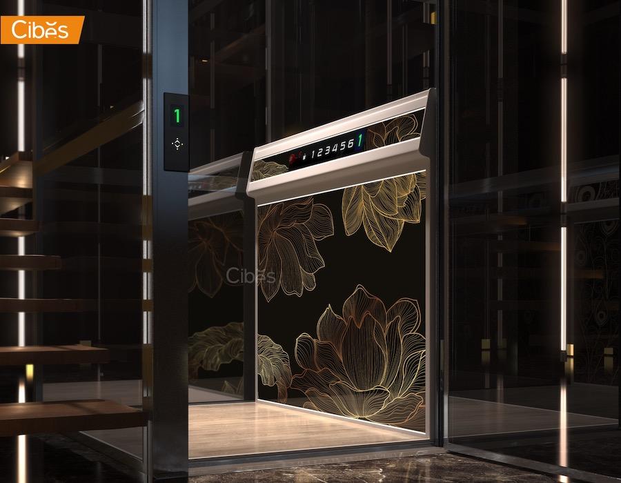 Thang máy Cibes Voyager Aurora nổi bật với Bộ 25 hoạ tiết tùy chọn đa dạng