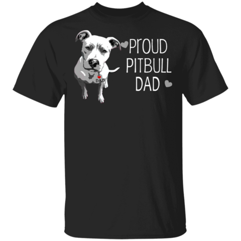 Proud Pitbull Dad T-Shirt Tattoos I Love Dad First Fathers Day Gifts