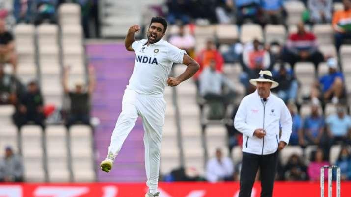 Ravichandran Ashwin celebrating a wicket