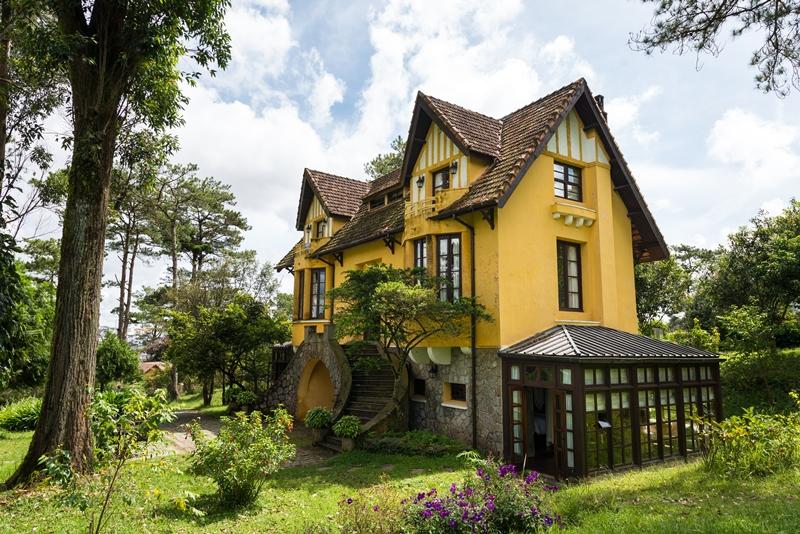 Kiến trúc nhà vườn là chủ đạo