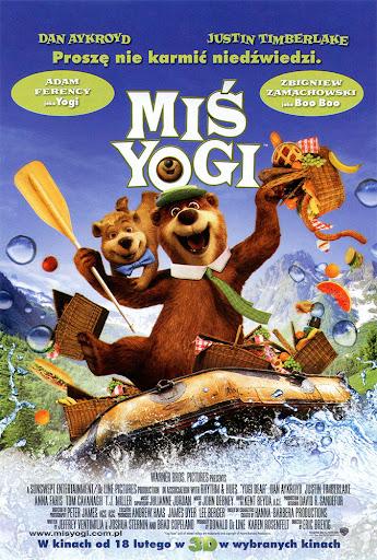 Przód ulotki filmu 'Miś Yogi'