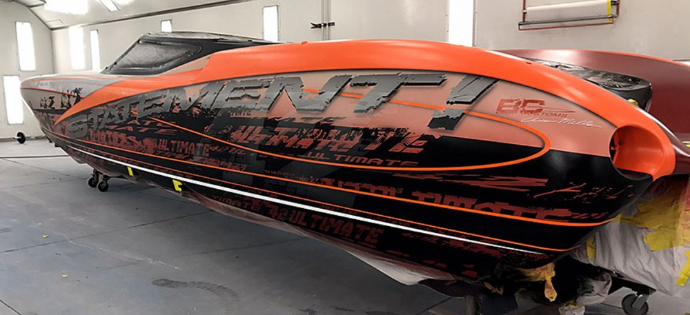 Airbrush Wizards Boat Paint