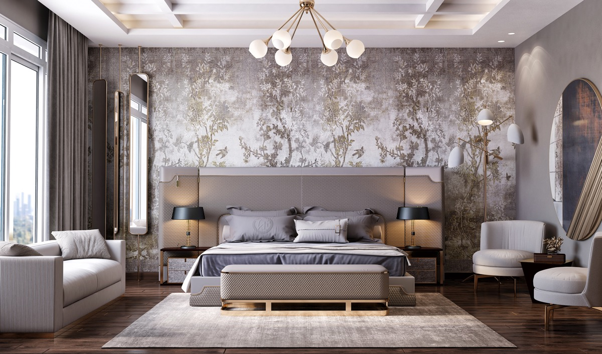 Wall Highlighted with Peel-and-Stick Wallpaper Ideas
