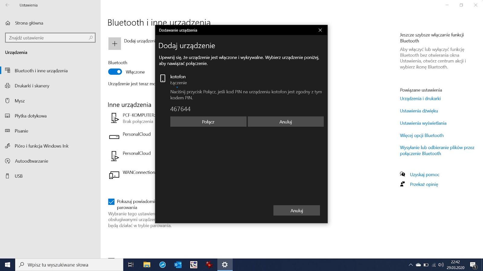 Jak połączyć telefon z komputerem przez Bluetooth