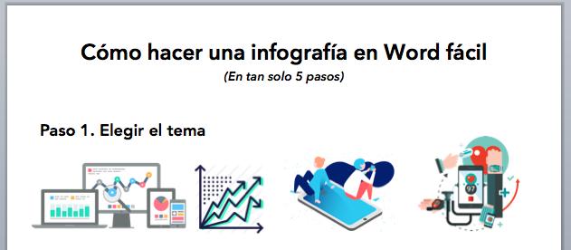 cómo hacer una infografía en Word elegir tipografías