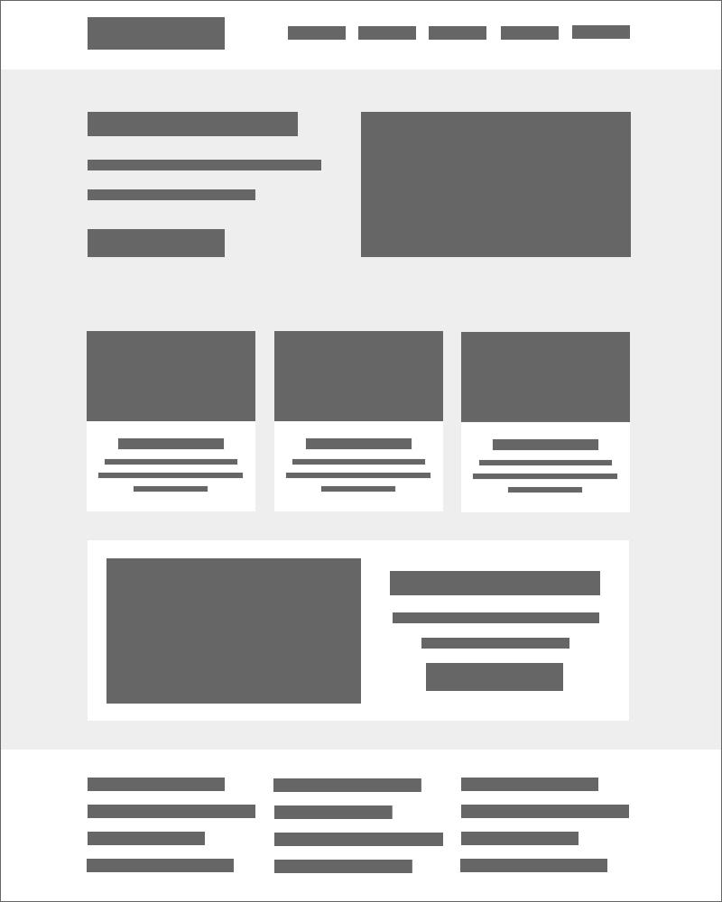 Ejemplo de espacio en blanco en el diseño de la interfaz de usuario