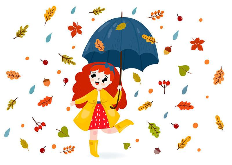 Стихи про осень для детей 4-5-6 лет. Стихи для заучивания.