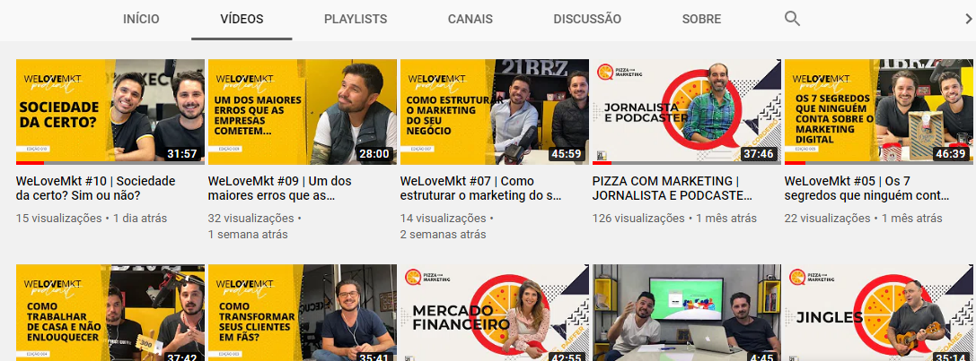 youtube de marketing