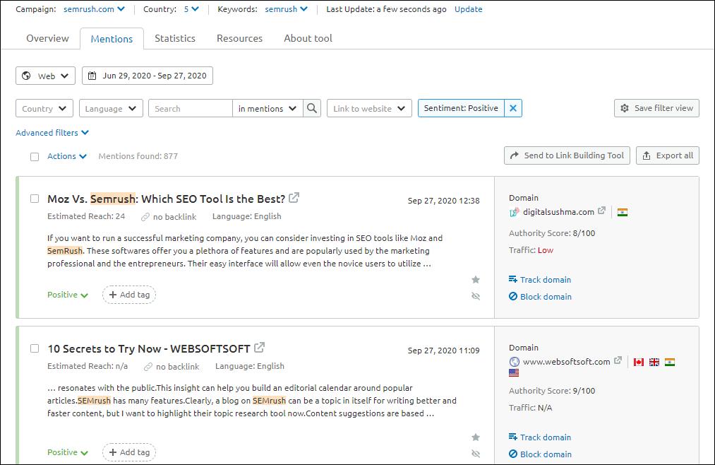How to do Brand monitoring via SEMrush
