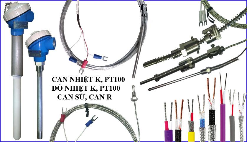 Dây bù nhiệt, dây bù nhiệt loại K, Pt100, R
