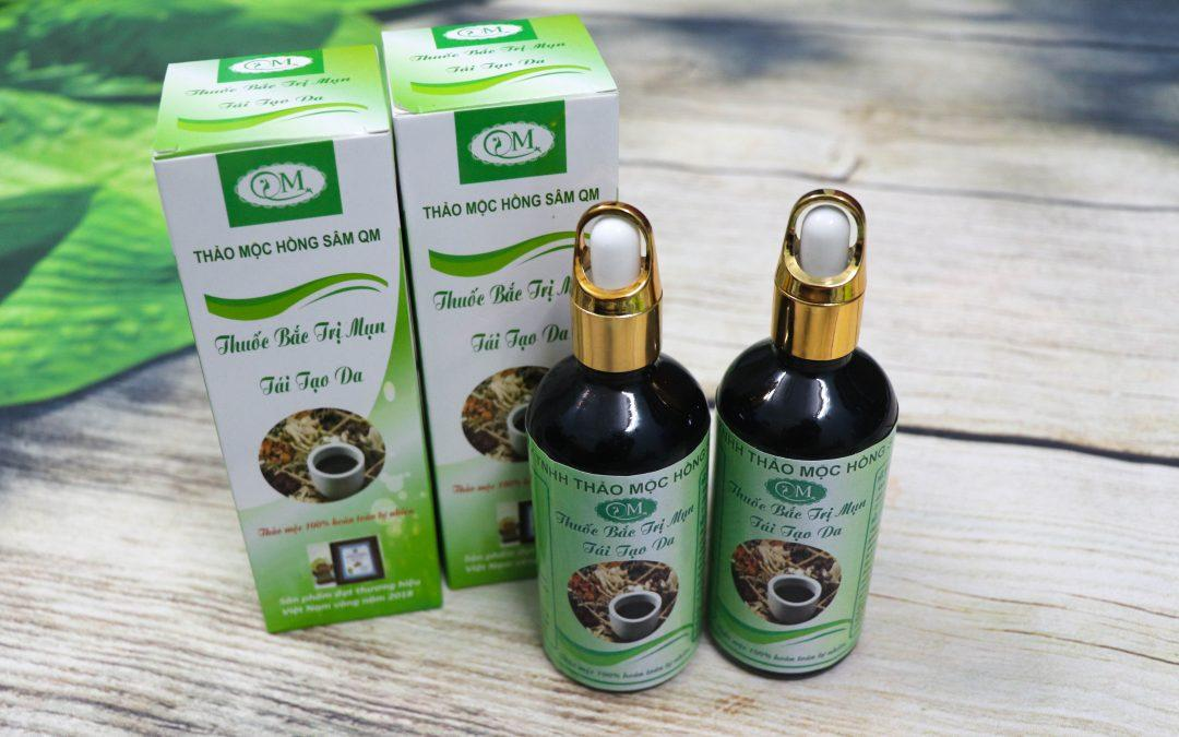 Hướng dẫn cách sử dụng thuốc bắc trị mụn tái tạo da Hồng Sâm QM