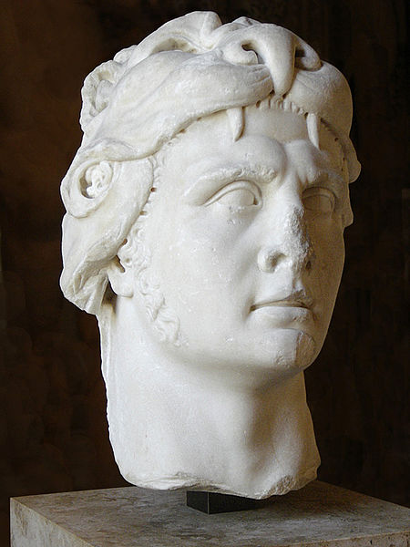 Bust of Mithridates in the lion headdress of Hercules.