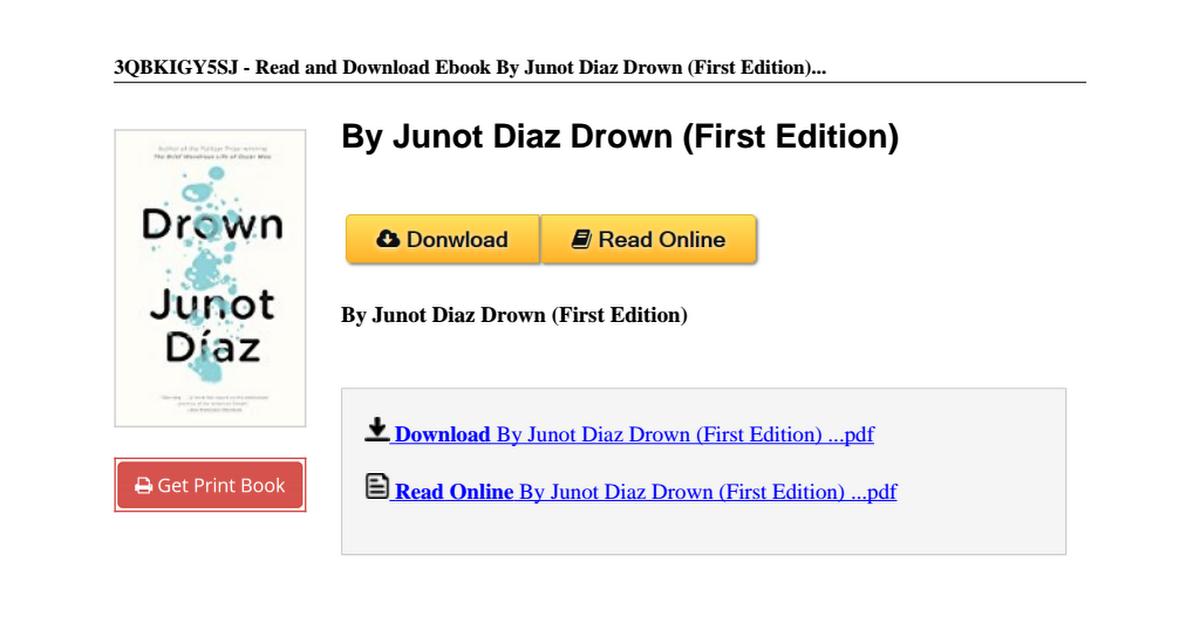 junot diaz drown first edition b00n4fbe6cpdf google drive