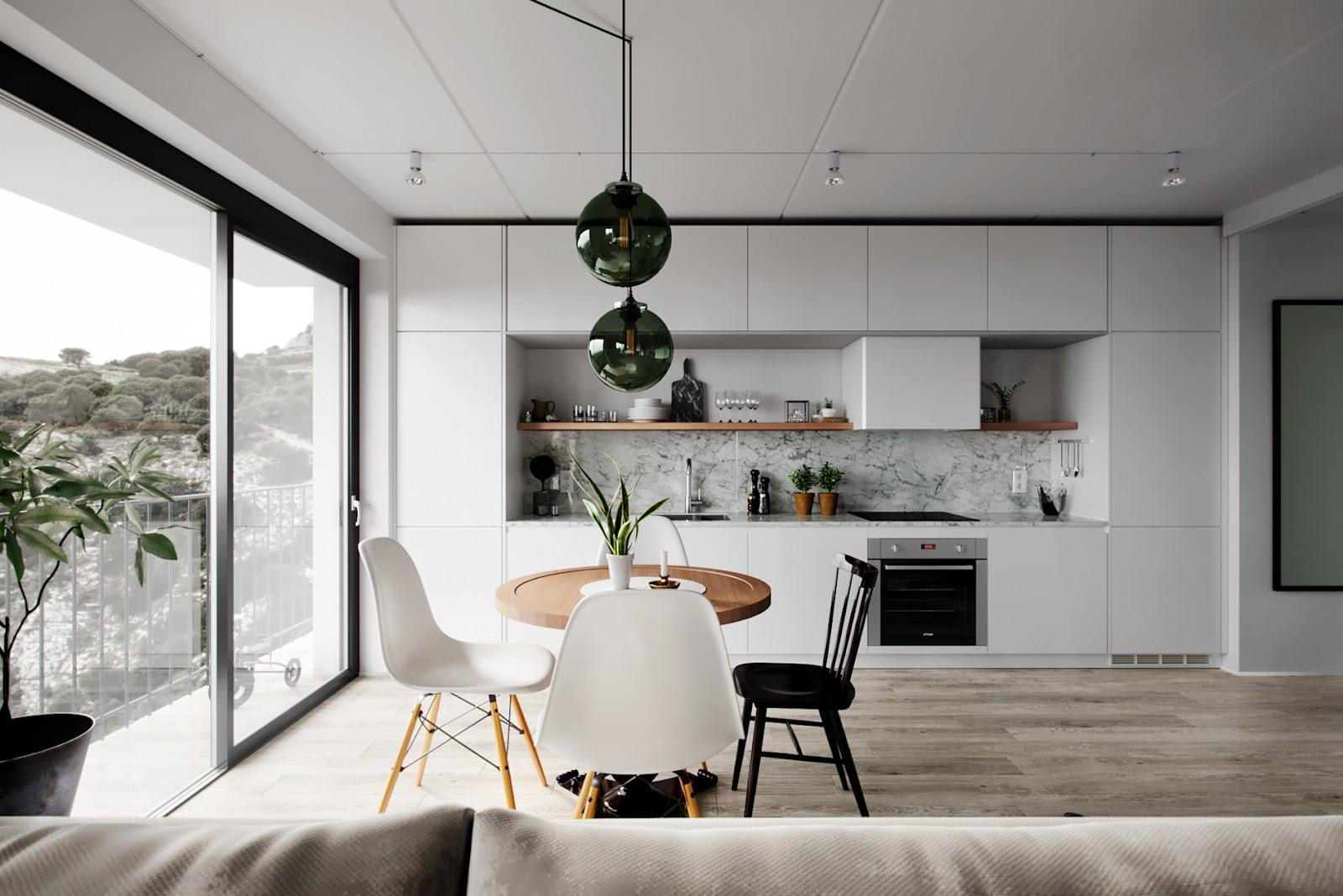 Elemen 'bentuk' pada desain interior - source: autodesk.com